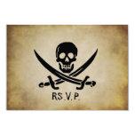 Pirate Wedding RSVP Response Card