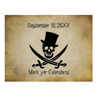 Pirate Wedding Save the Date Postcard