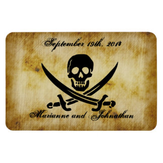 Pirate Wedding Save the Date Souvenir Magnet
