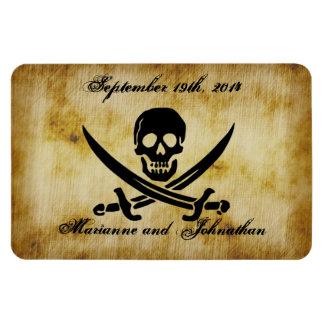 Pirate Wedding Save the Date Souvenir Magnet Rectangular Magnet