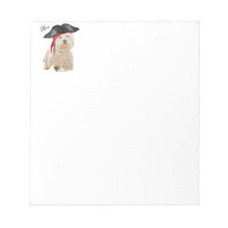 Pirate Westie Notepad