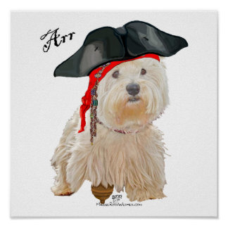 Pirate Westie Poster