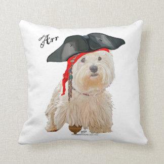 Pirate Westie Throw Pillow