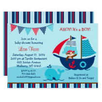 Pirate Whale Baby Shower Invitation