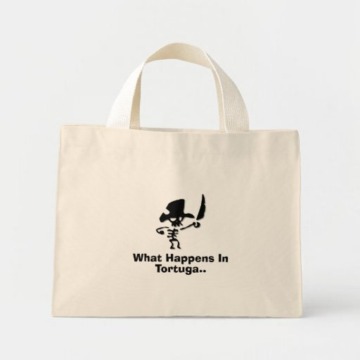 Pirate what happens in tortuga tote bag