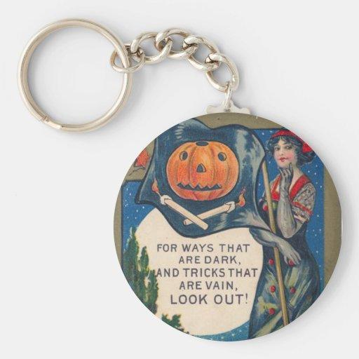 Pirate Witch Basic Round Button Keychain