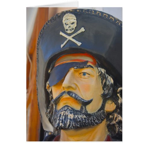 Pirate with Beard and Eye Patch Card