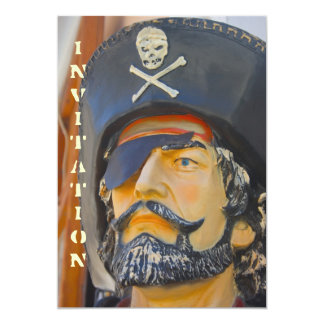 Pirate with Beard and Eye Patch Invitation