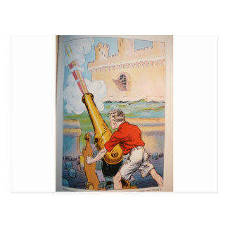 Pirate With Cannon Postcard
