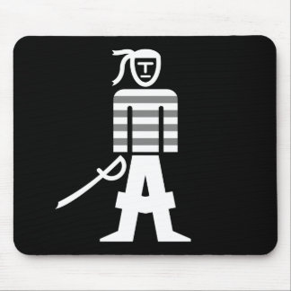 Pirate With Cutlass Puzzle Mousepad