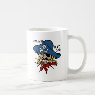 PIRATE WITH DAGGER...ARGH NUFF SAID TATTOO PRINT COFFEE MUG