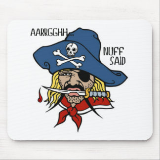 PIRATE WITH DAGGER...ARGH NUFF SAID TATTOO PRINT MOUSE PAD