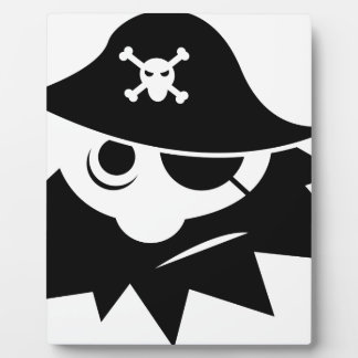 Pirate with Eye Patch Plaque