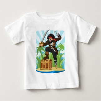 Pirate with His Treasure Chest Baby T-Shirt