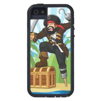 Pirate with His Treasure Chest iPhone 5 Case
