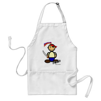 Pirate (with logos) adult apron