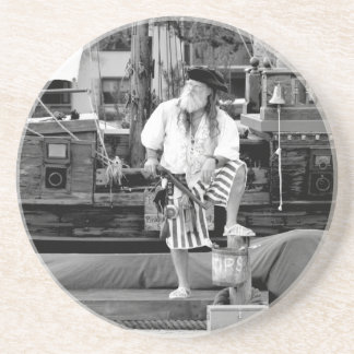 pirate with ship boat pirates sea faring image drink coasters