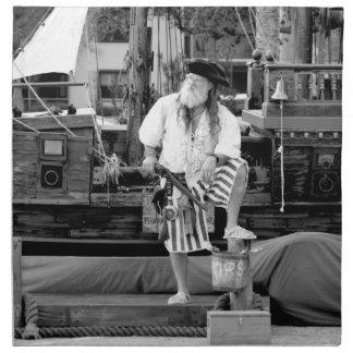 pirate with ship boat pirates sea faring image napkin