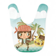 Pirate With Treasure Chest Bib