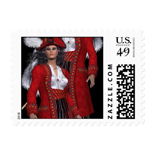 Pirate Woman 3d Postage