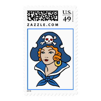 Pirate Woman Postage Stamps
