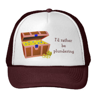 Pirate Would Rather Be Plundering Trucker Hat
