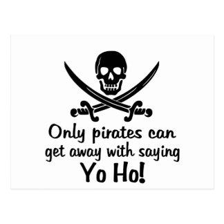 Pirate Yo Ho Postcard