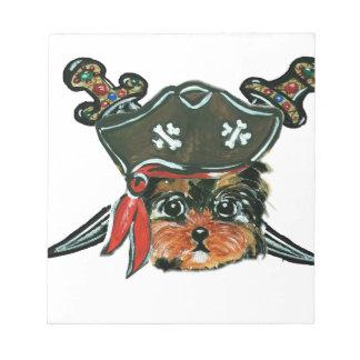 Pirate Yorkie Poo Notepad