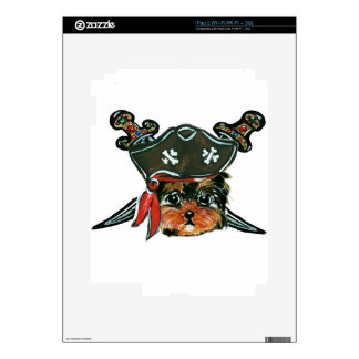 Pirate Yorkie Poo Skins For The iPad 2