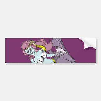 Pirate Zombie Mermaid Car Bumper Sticker