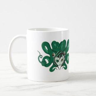 Pirate Zombie Octopus Woman Coffee Mug