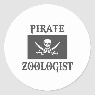 Pirate Zoologist Classic Round Sticker