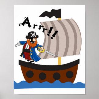 Piratea el poster del cuarto de niños