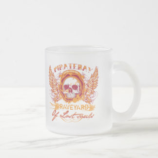 PirateBay Graveyard Of Lost Souls 10 Oz Frosted Glass Coffee Mug