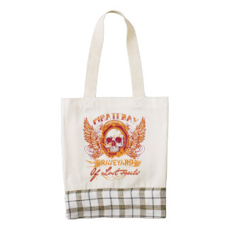 PirateBay Graveyard Of Lost Souls Backpack Zazzle HEART Tote Bag