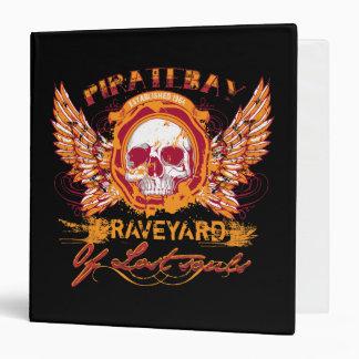 PirateBay Graveyard Of Lost Souls Skull Wings 3 Ring Binder