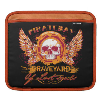 PirateBay Graveyard Of Lost Souls Skull Wings Sleeve For iPads