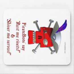PirateBots - 3D Robot Pirate mousepad