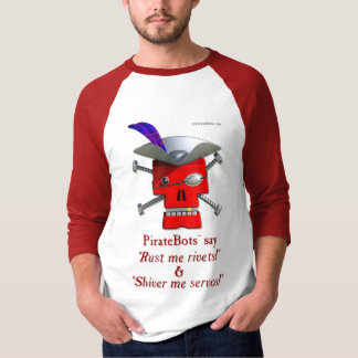 PirateBots -- unique 3D pirate robot shirt design