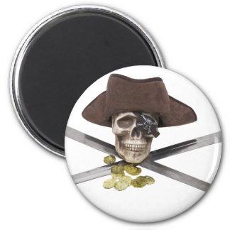 PirateCrossedSwords061209 Imán Redondo 5 Cm