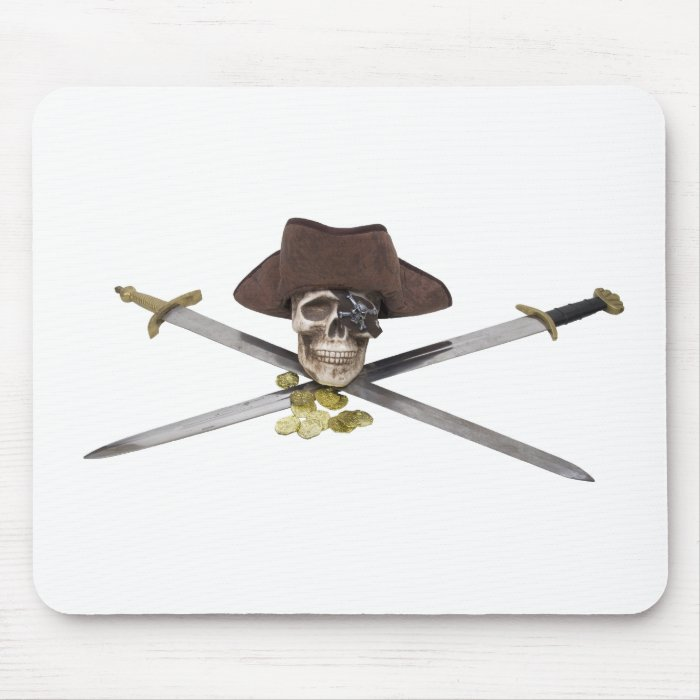 PirateCrossedSwords061209 Mouse Pad