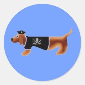 piratedach classic round sticker