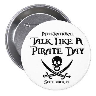 PirateDayButton Pin Redondo De 3 Pulgadas