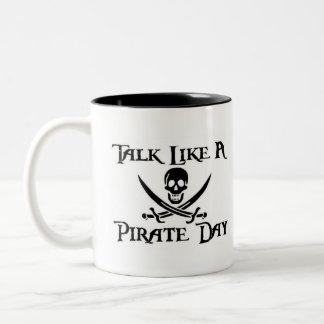 PirateDayMug Two-Tone Coffee Mug