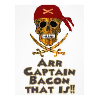 ¡Piratee a capitán Bacon de Arr del cráneo del Membrete