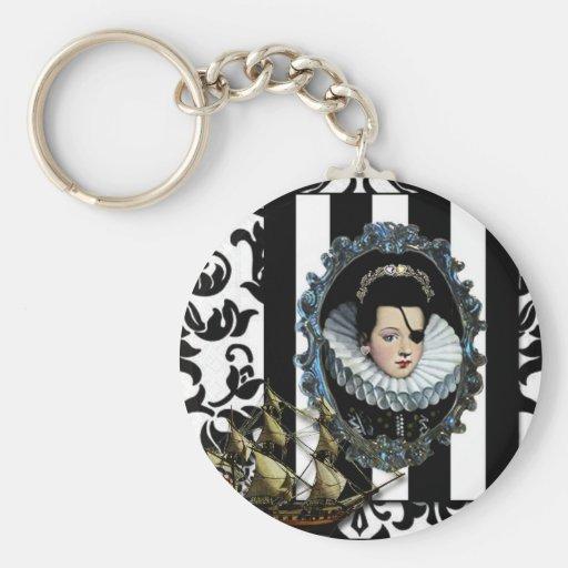 Piratee a la reina, mi arte original de la señora… llavero personalizado