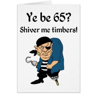 Piratee el 65.o cumpleaños tarjeta de felicitación