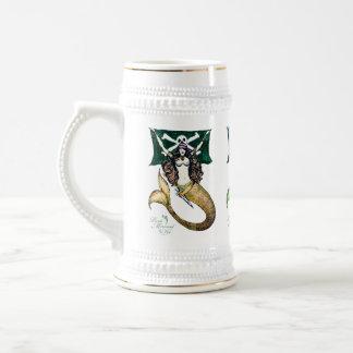Piratee el ~ de la jarra de cerveza/de Stein de la Taza De Café