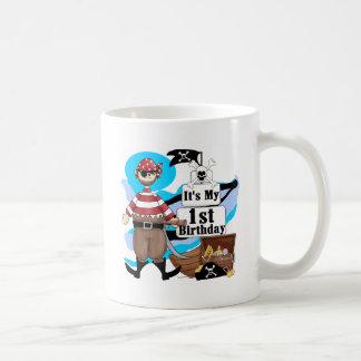 Piratee las 1ras camisetas y regalos del cumpleaño taza de café