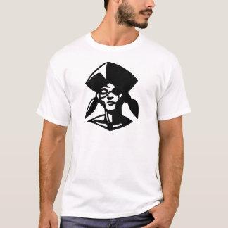 pirategirl black on white T-Shirt